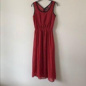 Fun & Flirt Midi Dress Red & Black Size Small